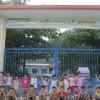 Hôm nay, trường mẫu giáo Đại Sơn tổ chức cho trẻ 5 tuổi đi tham quan trường Tiểu học Lê Phong, giao lưu với học sinh lớp 1 cùng thầy cô giáo trường Tiểu học.